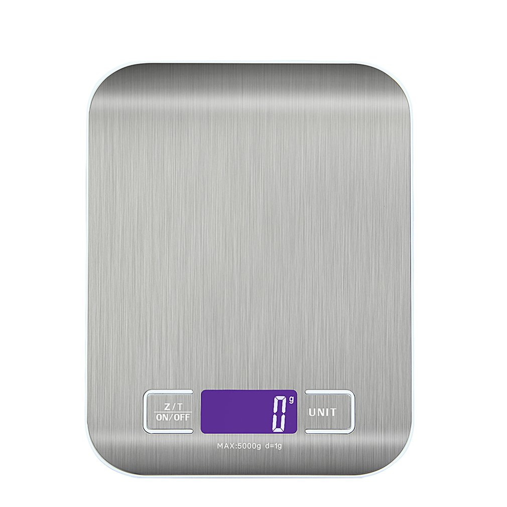 LCD Digital Electronic Balance Scale 1-5000g Food Weight Scales Kitchen Scale Intelligent Baking Gram Weight Drop Shipping Sale