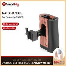 Petite poignée otan poignée pour Blackmagic Design poche cinéma BMPCC 4K 6K caméra Cage/Samsung T5 SSD poignée latérale en bois 2270