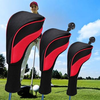 3Pcs Golf Clubs Putter Cover Head Iron Set Putter Headcovers Head Cover Protector With Zipper Outdoor Golf Putter Accessories