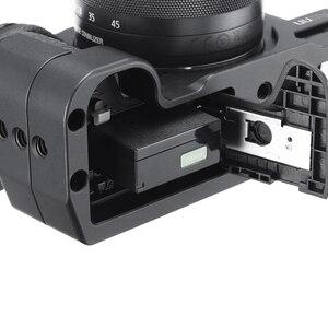 Image 5 - UURig Arca שחרור מהיר L צלחת עבור Canon M6 Mark II עם קר נעל 1/4 בורג כדי מיקרופון
