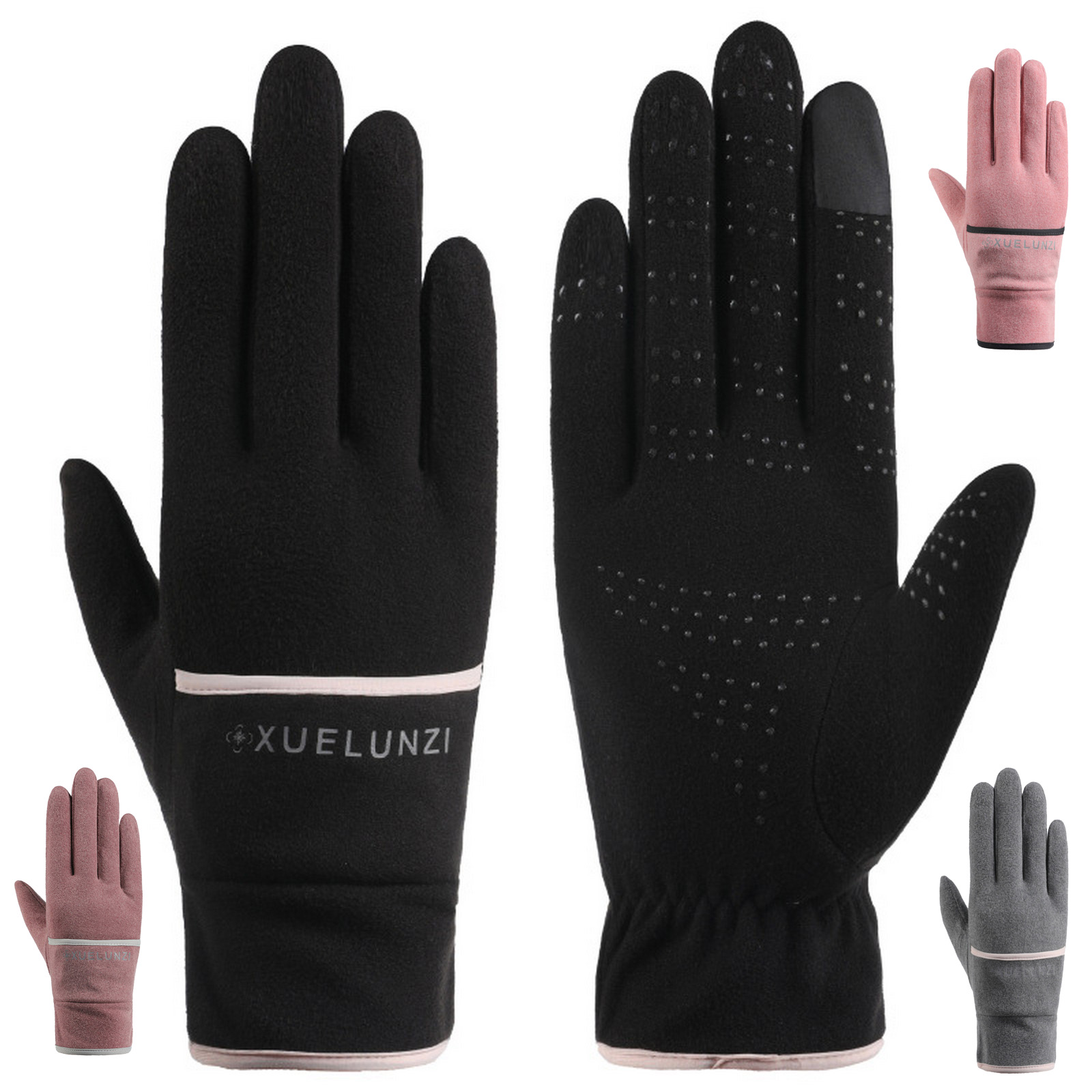 Winter warm bicycle gloves foldable storage windproof cover skiing outdoor camping hiking motorcycle sports all finger gloves