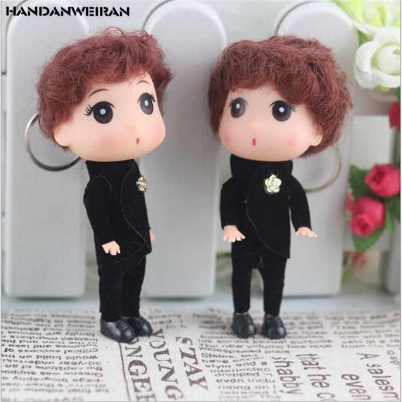 1 Pcs New Christmas Present Lovely 12cm confused Boy Wedding Doll Toy Girls Like Holiday Gift For Girls&Boys&Childs HANDANWEIRAN