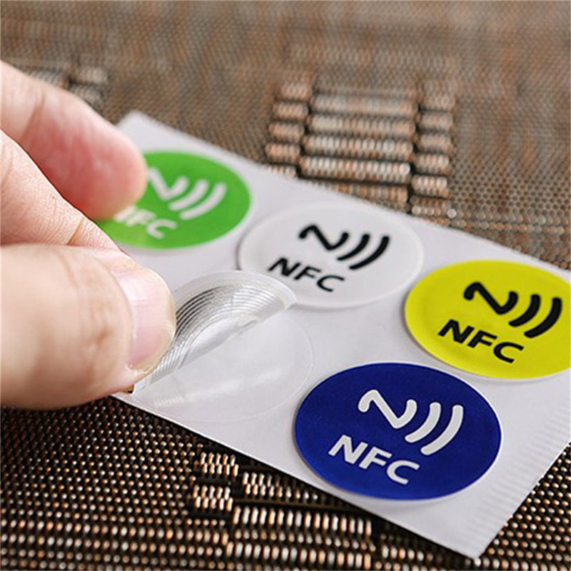 Image 2 - (6pcs/lot ) NFC Tags Stickers NTAG213 NFC tags RFID adhesive label sticker Universal Lable Ntag213 RFID Tag for all NFC Phones-in Access Control Cards from Security & Protection