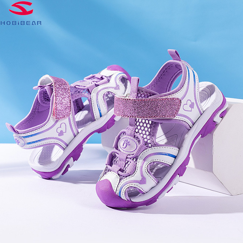 HOBIBEA Baby Sandals For Girls Boys Soft Bottom Cloth Children Shoes Fashion Little Kids Beach Sandals Toddler Shoes EUR26-37