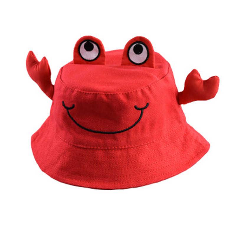 Nowy Cartooncrab śmieszne haft Panama modne kapelusze dla mężczyzn i kobiet lato dla dzieci na świeżym powietrzu hip-hop rybak kapelusze 1-5 rok