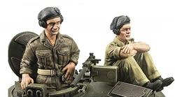 1/35 conjunto sem pintura resina figura kit british tanks (sem tanque)