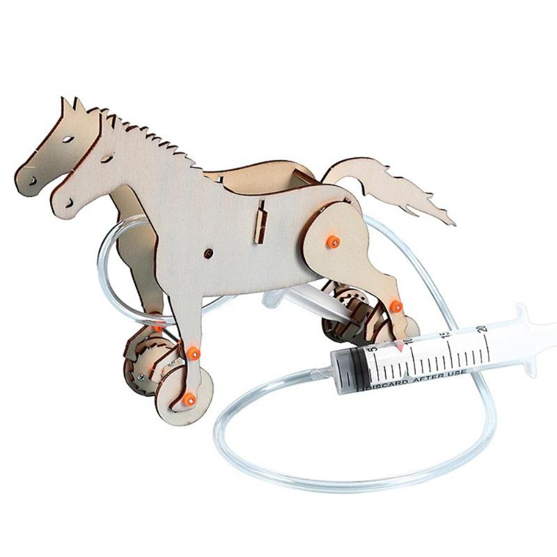 Science Production Mechanical Horse Toys Stimulate Child Potential Creative Thinking Material Kits Funny Inventions Toy