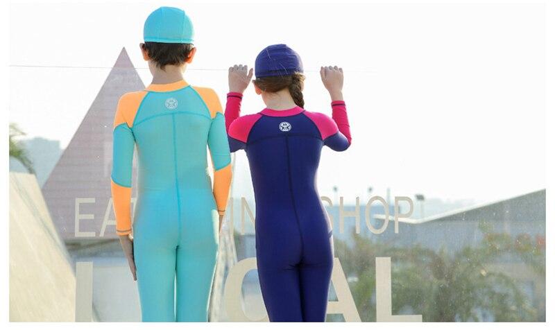 proteção solar crianças mergulho terno 2020 verão