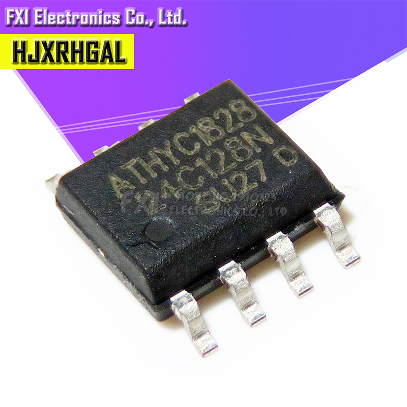 10PCS AT24C128N 24C128N <font><b>24C128</b></font> AT24N128 SOP-8 EEPROM SERIAL EEPROM 128K (16K x 8) 2WE 1.7V new original image