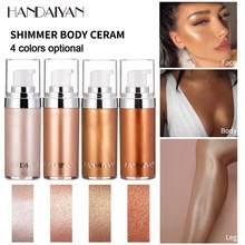 Handaiyan líquido highlighter fundação olhos rosto corpo iluminar maquiagem brilho alto brilho brilho brilho loção destaque líquido compõem tslm1