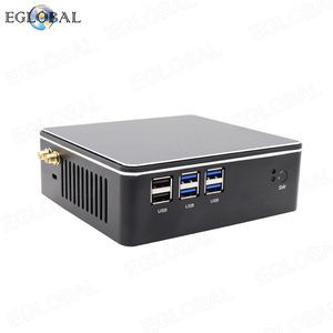 Image 1 - Hot Selling Mini PC with Fan i3 i5 i7 DDR3L/DDR4 Version Gaming Computer HDMI VGA Dual Display Win7/8/10 Linux Cheap Porket pc
