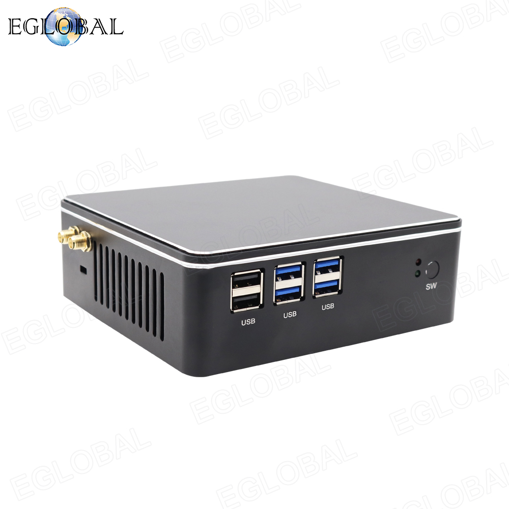 Hot Selling Mini PC With Fan I3 I5 I7 DDR3L/DDR4 Version Gaming Computer HDMI VGA Dual Display Win7/8/10 Linux Cheap Porket Pc