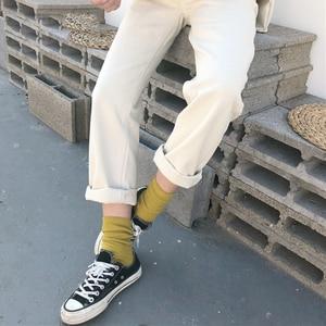 Image 4 - מכנסיים נשים 2020 מוצק פשוט כל התאמה ישר כיסי פנאי מכנסיים נשים גבוהה מותן Harajuku קוריאני מכנסיים Ulzzang שיק