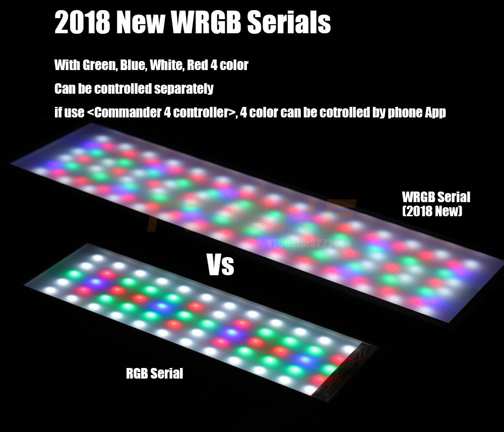 Image 2 - 2019 New Chihiros WRGB  LED APP Version Aquairum Lighting Aquatic  Plant Light With 4 Channel Magic Controller As Timer SunriseLightings