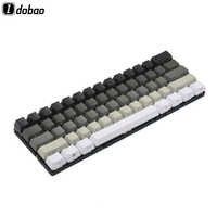 Blanc gris noir mélangé OEM profil Keycaps 87 61 clé côté impression blanc Keyset épais PBT pour MX TKL clavier mécanique GH60 XD60