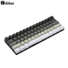 Ensemble de touches 87, 61 touches, blanc, gris et noir, blanc, blanc, blanc, PBT épais, pour clavier mécanique MX TKL, GH60, XD60