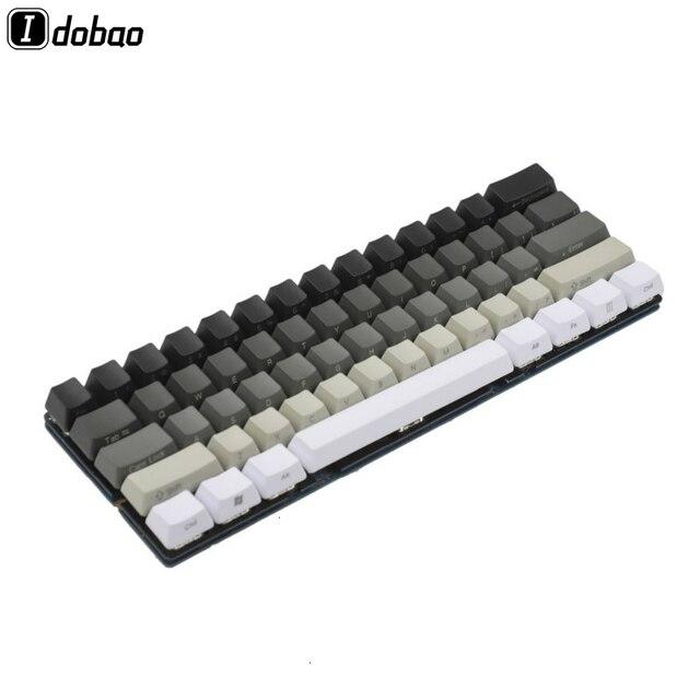أبيض رمادي أسود مختلط OEM الشخصي أغطية المفاتيح 87 61 مفتاح الجانب طباعة فارغة Keyset سميكة PBT ل MX TKL لوحة المفاتيح الميكانيكية GH60 XD60
