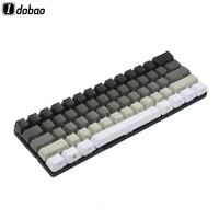 87 White Gray Black Mixed OEM Profile Keycaps 87 61 Key Side Print Blank Keyset Thick PBT For MX TKL Mechanical Keyboard GH60 XD60 (1)