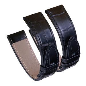 Image 5 - Bracelets de montre en cuir véritable peau dalligator Pesno bracelet de montre en peau de veau marron noir adapté à Montblanc Timewalker Stat
