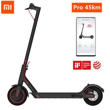 Xiaomi-patinete eléctrico Mijia M365 Pro Mi, Original, inteligente, para adulto, de 45km, Mini aeropatín plegable