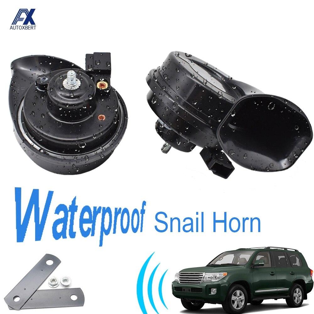 Улиточный рожковый сигнал для Toyota Land Cruiser J100 J200, громкие водонепроницаемые автомобильные рожки 410/510 Гц, 12 В, 110-125 дБ, двухтоновые автомобильны...