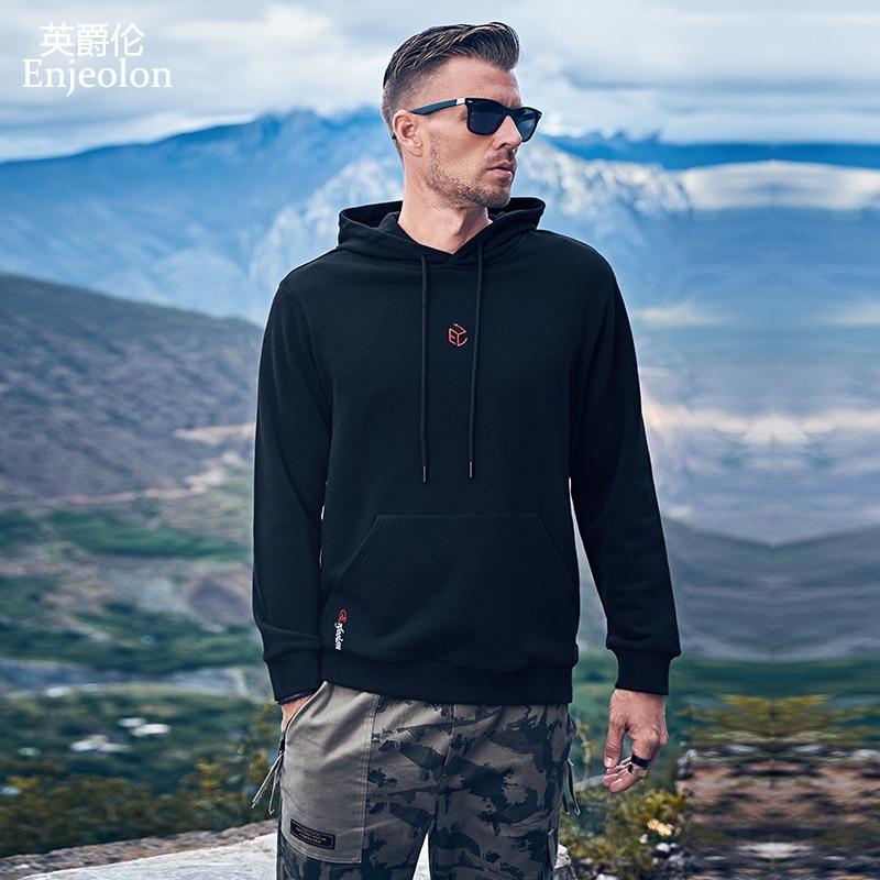 Enjeolon New Men's Hoodie Hip Hop Men's Hooded Streetwear Sweatshirt Hoody Printed Male Hooded Pullover ChaquetasWY145