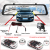 4G 12 Inch Car Rearview Mirror Car DVR ADAS Android FHD For Auto Recorder GPS Navigation Register Dash Camera Rear View Camera promo