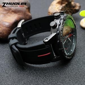 Image 2 - Bracelet de montre en caoutchouc haute quantité, 28x16mm, pour timex WATCHT2N720 T2N721 TW2T76300, noir, étanche en silicone
