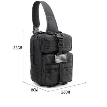 Plecak taktyczny torba na klatkę piersiowa męska Molle worek torba na ramię pas biodrowy plecak taktyczny Crossbody Sling Messenger torba na ramię torba tanie i dobre opinie CN (pochodzenie) NYLON