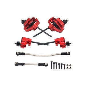 Для портала SCX10 Red Alloy передние оси с рулевым звеном обновленные детали для 1/10 RC Гусеничный осевой SCX10 II 90046 90047 AR44