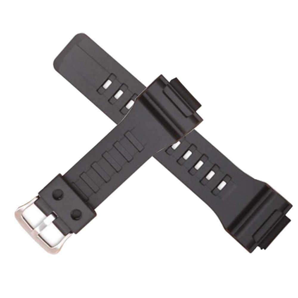 Correa de reloj de resina de goma de silicona correa de reloj de pulsera para casio AQ S810WAEQ 110WW 735 28*18mm reloj de pulsera