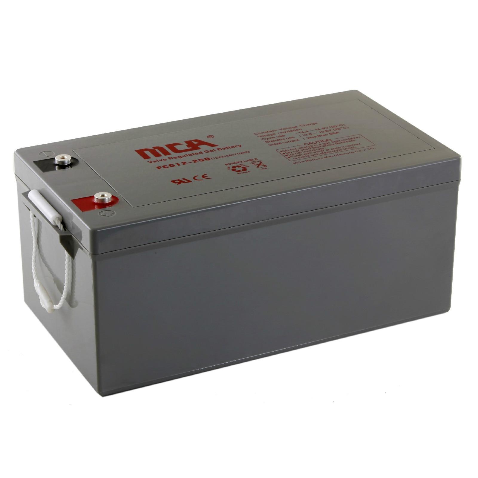 bateria solar do gel do inversor 12v 250ah do armazenamento da venda superior