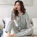 women sleepwear Spring and autumn new style pure cotton pajamas women pure cotton long-sleeved suit, women nightgowns