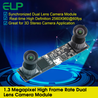 No distortion 960P HD Webcam Synchronized 3D Stereo VR Camera OTG UVC Plug and play USB 2.0 Video Webcam Camera Module