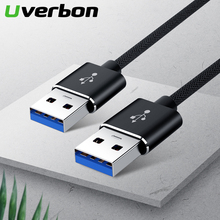 Cable de extensión USB 2,0 para radiador, Cable de extensión de datos USB 2,0 de tipo A Dual, Cable Super SpeedSync de 5Gbps para radiador