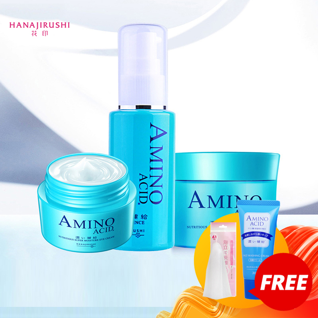 HANAJIRUSHI hyaluronik asit yüz serumu Amino asit cilt özü nemlendirici Ultra tamir sıkılaştırıcı Anti aging kırışıklıkları kaldırmak 50ml