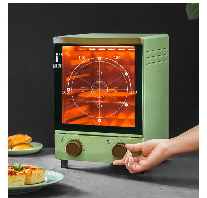 12L Multifunctional Retro Automatic Double Layer Electric Oven 1