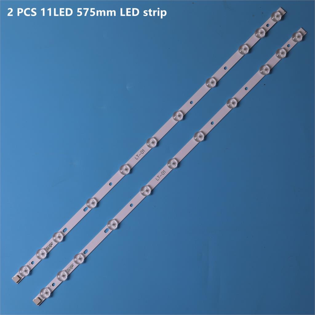 2 pces 11led 575mm tira de luz de fundo led para lg sharp 32 tv tv 32d1334db lc32ld145k VES315WNDL-01 VES315WNDS-2D-R02 32 ha5000 vestel