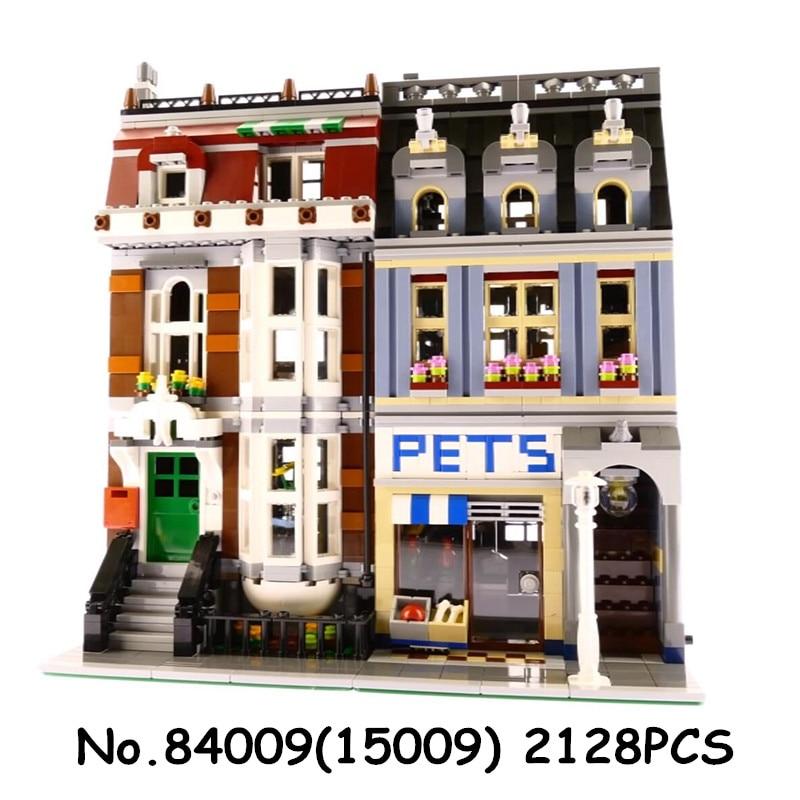 Roi briques 15009 15005 Pet Shop créateur blocs de construction compatibles avec 10218 10211 ville rue série jouets briques cadeau-in Blocs from Jeux et loisirs    2