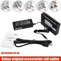 Dahua DH-PFS3006-4ET-60 4-портовый 60 Вт PoE Ethernet коммутатор PFS3006-4ET-60 с адаптером питания для ip-камеры dahua hikvision onvif