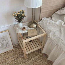 Ins Nordic Solid Wood Bedside Table Simple Sofa Side Table Bedside Table Simple Coffee Table Furniture Bedroom