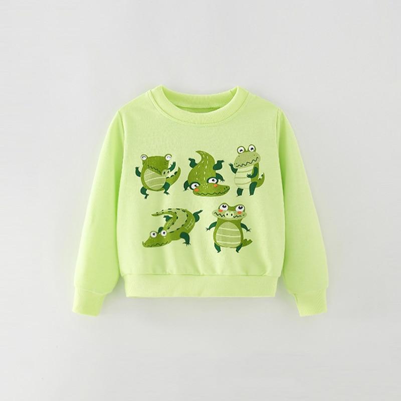 saileroad moletom infantil estampa de crocodilo camiseta 04