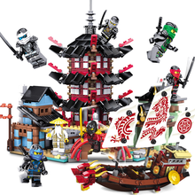 Ninja Temple Boat Dragon 737+pcs DIY Building Block Sets Educational Toys for Children Compatible Legoinglys Ninjagoes Movie(China)