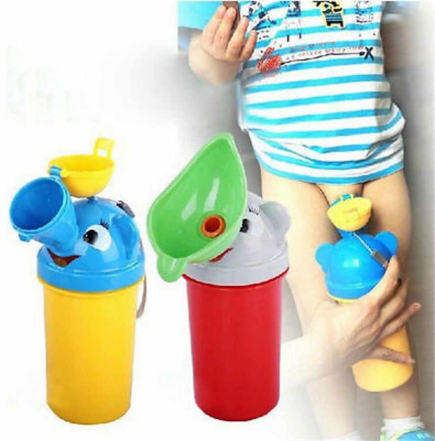 Portátil cómodo orinal infantil entrenamiento viaje lindo bebé urinario niños niña niño coche baño urinario para vehículo que viaja al orinal