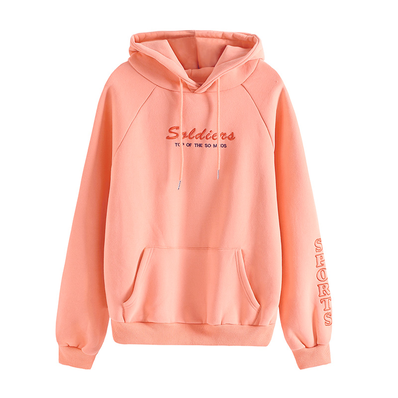 Sweatshirts Women Letter Hoodies Harajuku Loose Autumn Winter Warm Clothes Pocket Sweatshirt Long Sleeve Oversized Hoodies Women 4