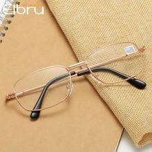 Presbyopic Glasses Optical-Spectacle Prescription Eyewear Clear-Lens Women Metal Elbru