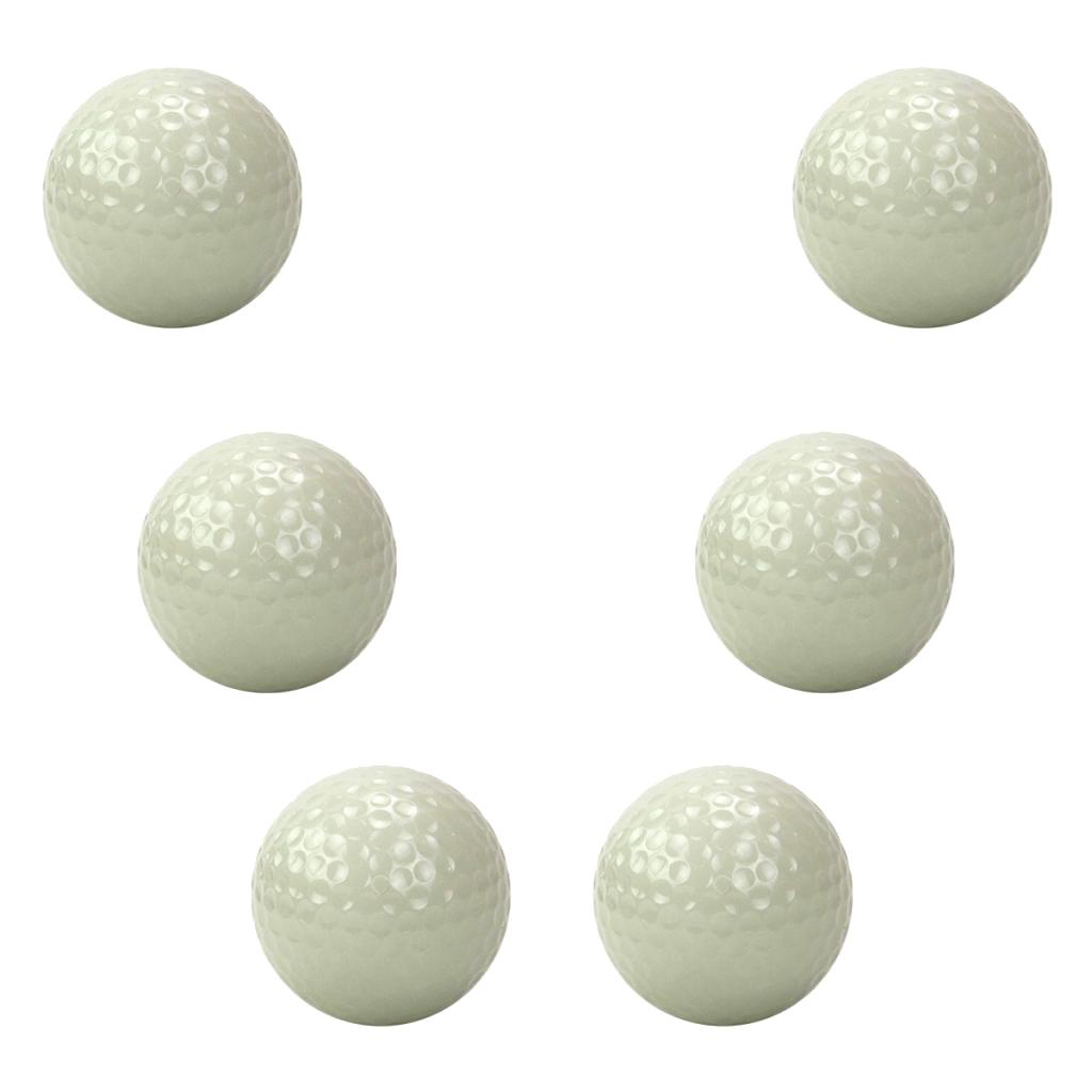 6 Pieces Luminous Golf Balls Bright Night Floating Glow Golf Balls