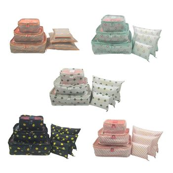 6Pcs/Set Travel Storage Bag Waterproof Clothes Packing Cube Luggage Organizer Set фото