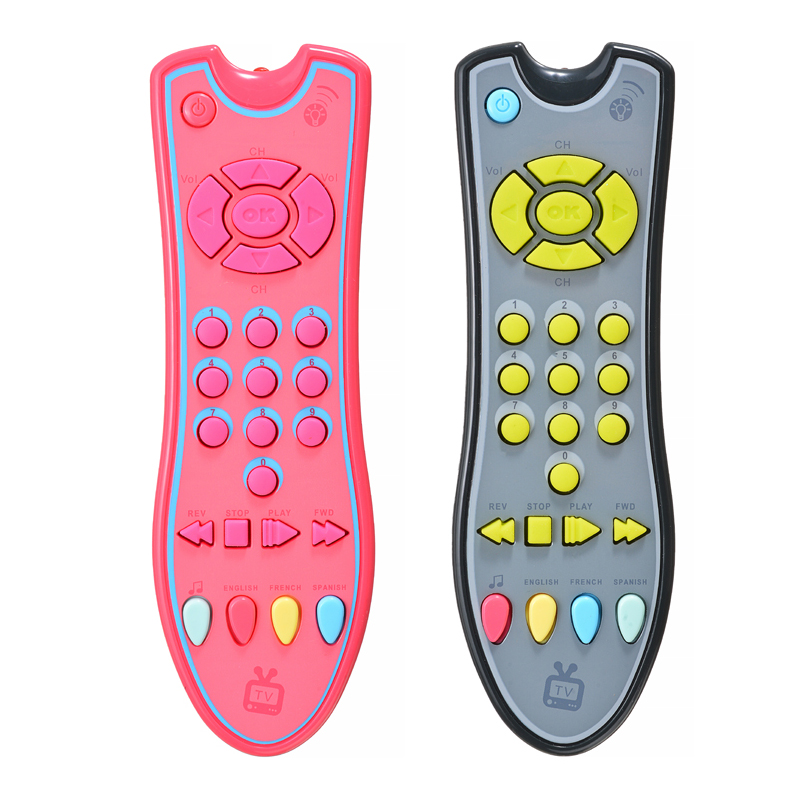 1pcs Music Simulation Mobile Phone Baby TV Remote Control Early Educational Toys Electric Numbers Remote Learning Machine Toy