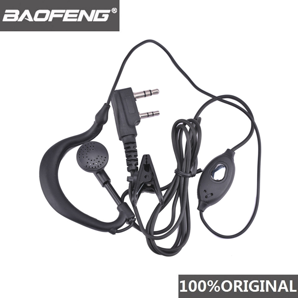 Original Baofeng UV-5R Headset Two Way Radio Earphone UV5R Walkie Talkie Woki Toki Headphone PTT Microphone Mic Earpiece UV 5R